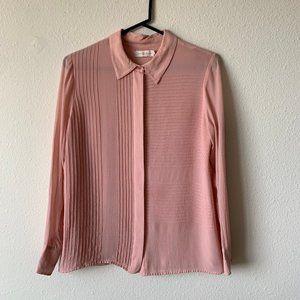 Tory Burch 100% silk pink blouse - 6